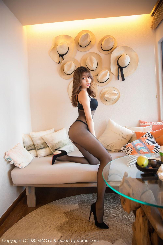 [XiaoYu] Vol.255 Zhi Zhi Booty 20P, Big Booty, Black Silk, Chen Zhi, Tall, XiaoYu