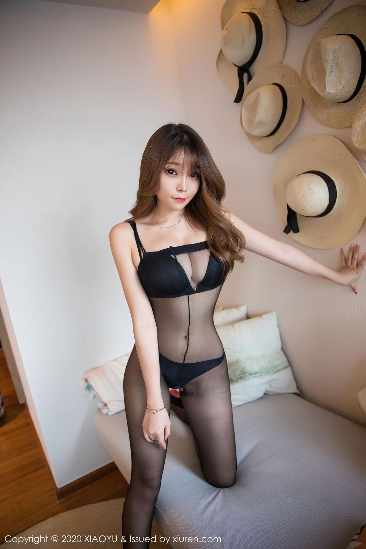 [XiaoYu] Vol.255 Zhi Zhi Booty 22P, Big Booty, Black Silk, Chen Zhi, Tall, XiaoYu