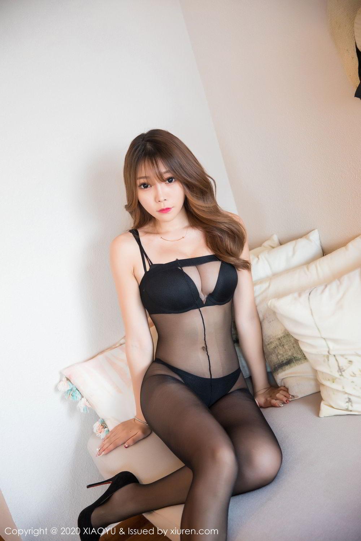 [XiaoYu] Vol.255 Zhi Zhi Booty 4P, Big Booty, Black Silk, Chen Zhi, Tall, XiaoYu