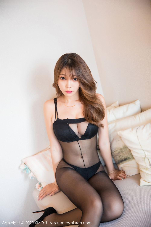 [XiaoYu] Vol.255 Zhi Zhi Booty 5P, Big Booty, Black Silk, Chen Zhi, Tall, XiaoYu