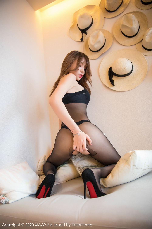 [XiaoYu] Vol.255 Zhi Zhi Booty 6P, Big Booty, Black Silk, Chen Zhi, Tall, XiaoYu