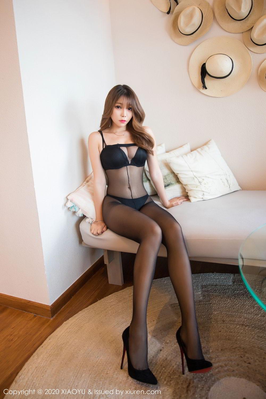 [XiaoYu] Vol.255 Zhi Zhi Booty 8P, Big Booty, Black Silk, Chen Zhi, Tall, XiaoYu