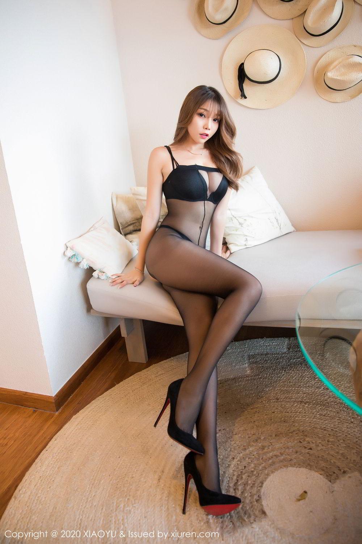[XiaoYu] Vol.255 Zhi Zhi Booty 9P, Big Booty, Black Silk, Chen Zhi, Tall, XiaoYu