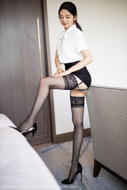 [XiaoYu] Vol.258 Xiao Re Ba 18P, Black Silk, Di Yi, Tall, XiaoYu