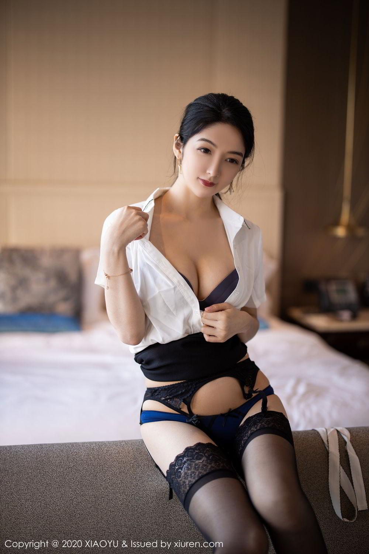 [XiaoYu] Vol.258 Xiao Re Ba 46P, Black Silk, Di Yi, Tall, XiaoYu