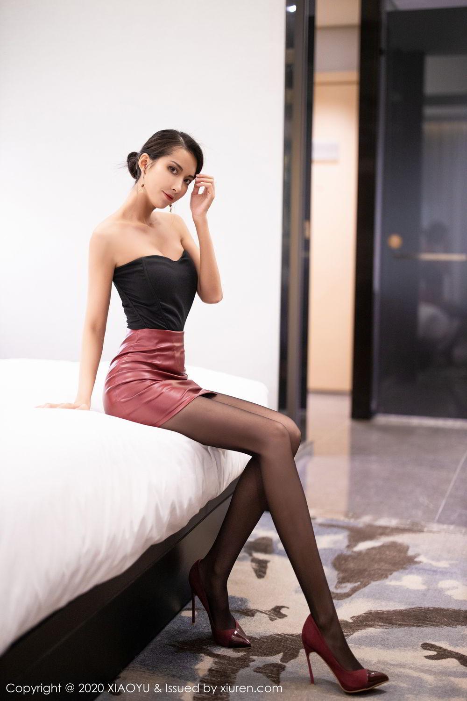 [XiaoYu] Vol.265 Carry 14P, Black Silk, Chen Liang Ling, Tall, Underwear, XiaoYu