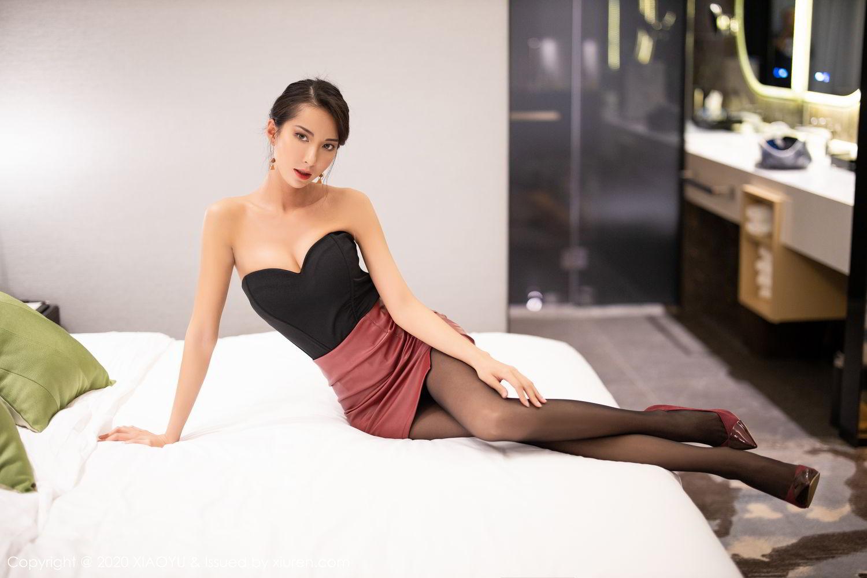 [XiaoYu] Vol.265 Carry 18P, Black Silk, Chen Liang Ling, Tall, Underwear, XiaoYu