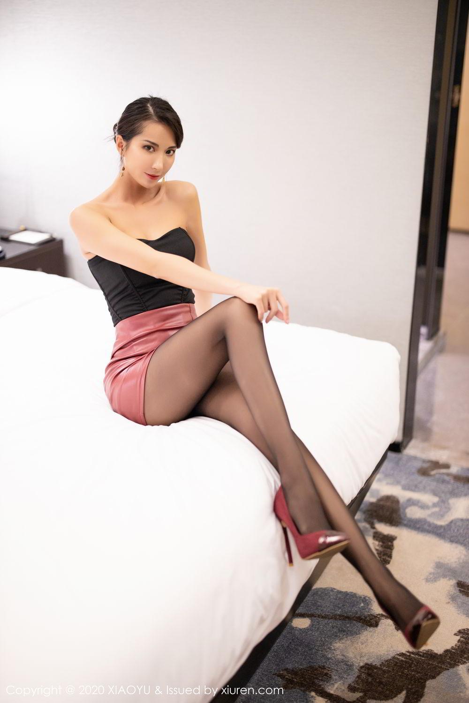 [XiaoYu] Vol.265 Carry 20P, Black Silk, Chen Liang Ling, Tall, Underwear, XiaoYu
