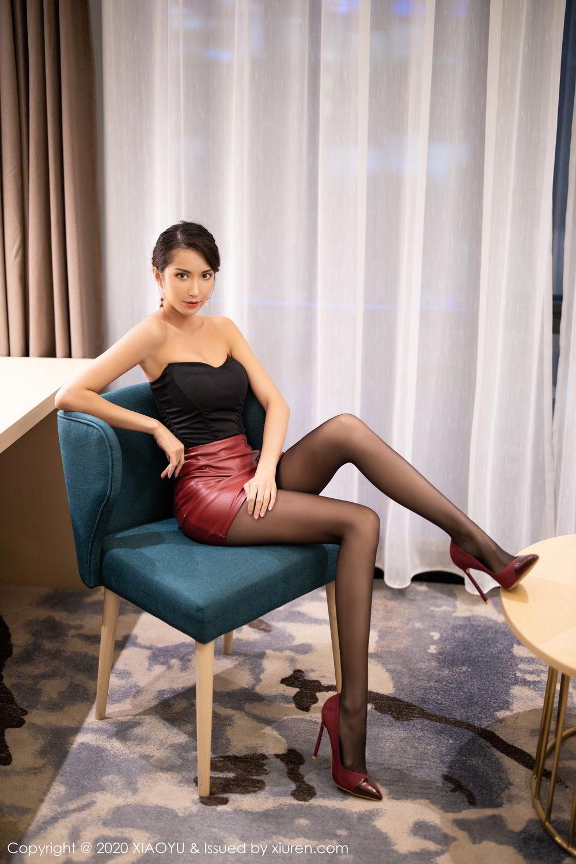 [XiaoYu] Vol.265 Carry 21P, Black Silk, Chen Liang Ling, Tall, Underwear, XiaoYu