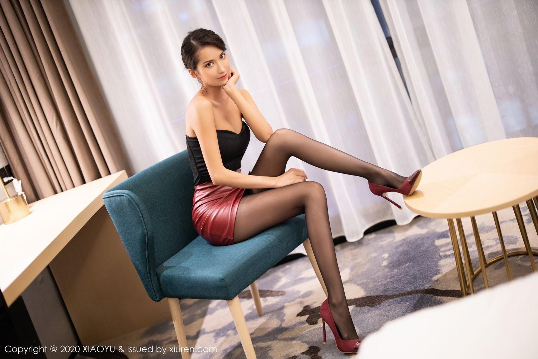 [XiaoYu] Vol.265 Carry 22P, Black Silk, Chen Liang Ling, Tall, Underwear, XiaoYu