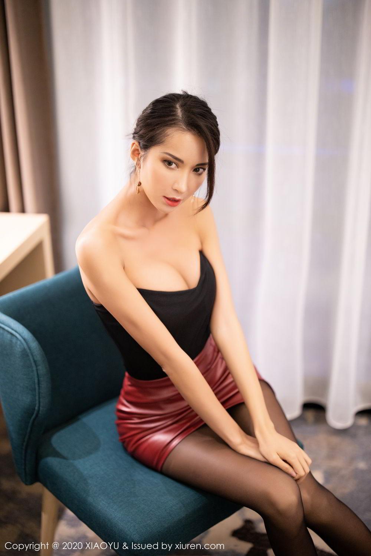 [XiaoYu] Vol.265 Carry 23P, Black Silk, Chen Liang Ling, Tall, Underwear, XiaoYu