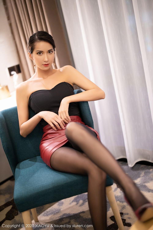 [XiaoYu] Vol.265 Carry 25P, Black Silk, Chen Liang Ling, Tall, Underwear, XiaoYu