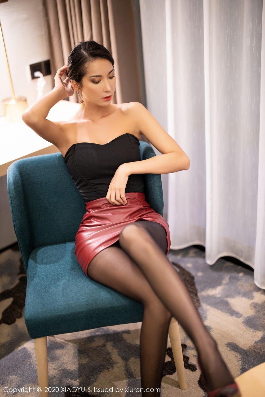 [XiaoYu] Vol.265 Carry 26P, Black Silk, Chen Liang Ling, Tall, Underwear, XiaoYu