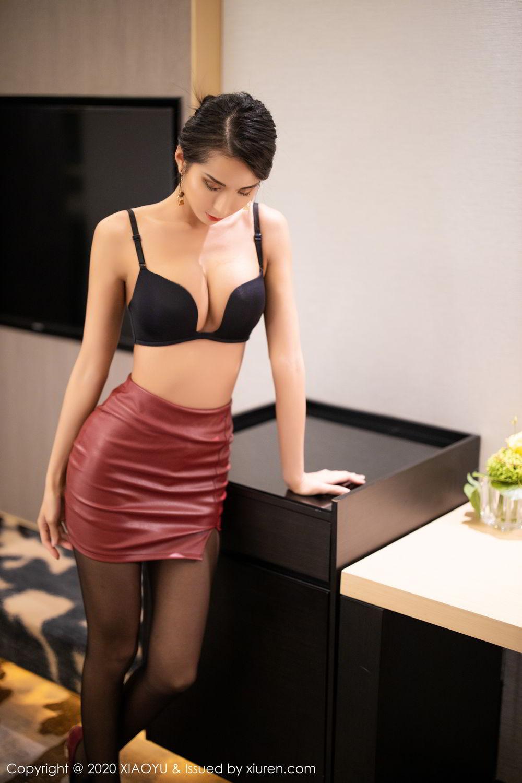 [XiaoYu] Vol.265 Carry 28P, Black Silk, Chen Liang Ling, Tall, Underwear, XiaoYu