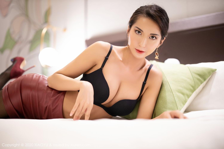 [XiaoYu] Vol.265 Carry 41P, Black Silk, Chen Liang Ling, Tall, Underwear, XiaoYu