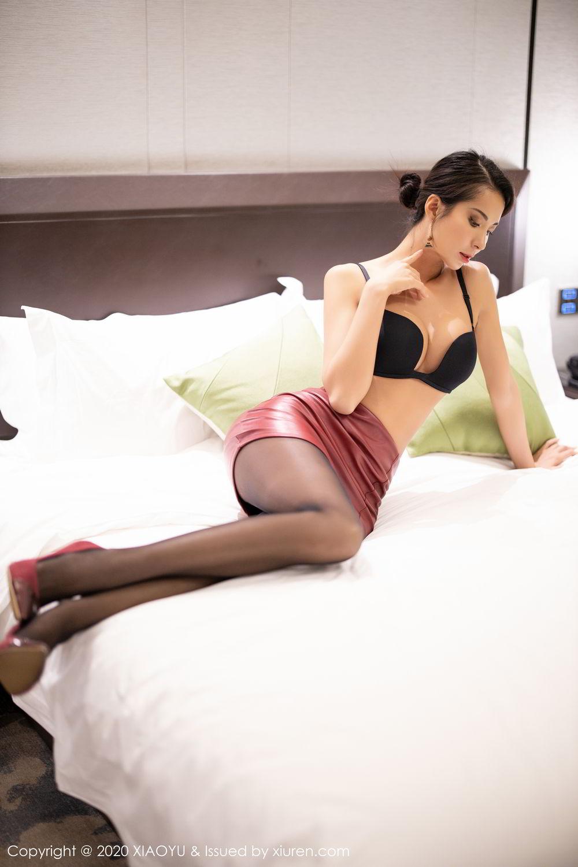 [XiaoYu] Vol.265 Carry 44P, Black Silk, Chen Liang Ling, Tall, Underwear, XiaoYu