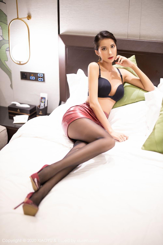 [XiaoYu] Vol.265 Carry 46P, Black Silk, Chen Liang Ling, Tall, Underwear, XiaoYu