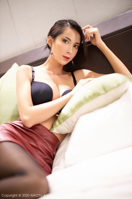 [XiaoYu] Vol.265 Carry 54P, Black Silk, Chen Liang Ling, Tall, Underwear, XiaoYu