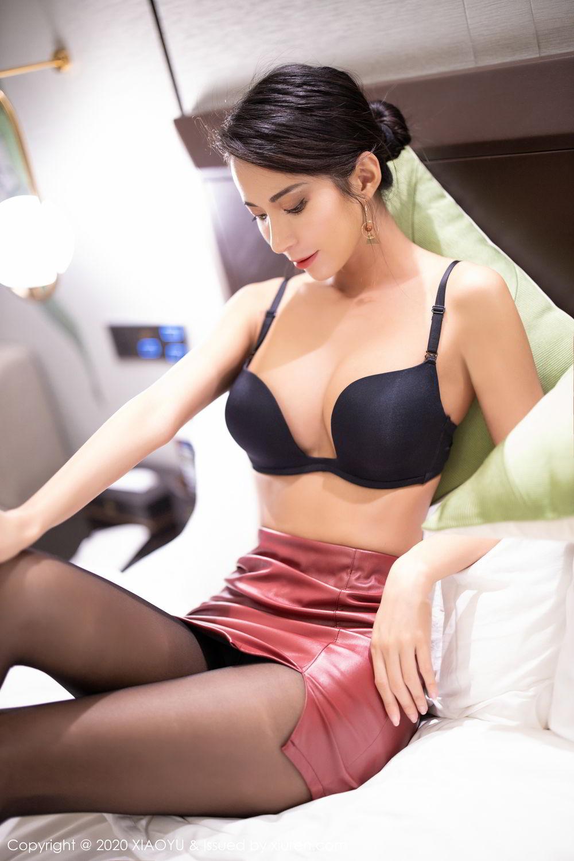[XiaoYu] Vol.265 Carry 55P, Black Silk, Chen Liang Ling, Tall, Underwear, XiaoYu