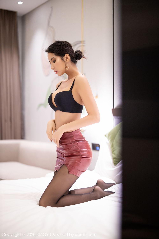 [XiaoYu] Vol.265 Carry 65P, Black Silk, Chen Liang Ling, Tall, Underwear, XiaoYu