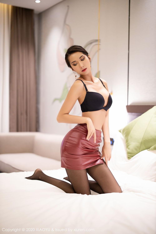 [XiaoYu] Vol.265 Carry 66P, Black Silk, Chen Liang Ling, Tall, Underwear, XiaoYu