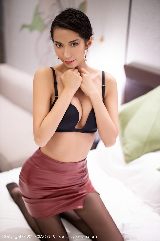 [XiaoYu] Vol.265 Carry 71P, Black Silk, Chen Liang Ling, Tall, Underwear, XiaoYu