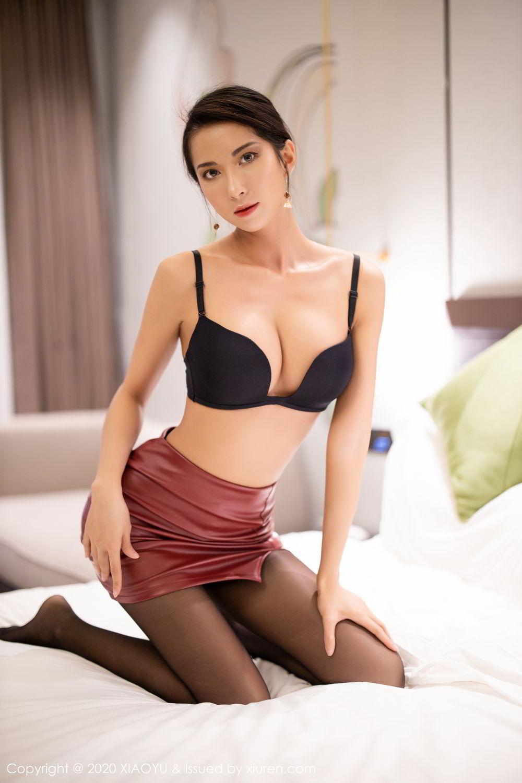 [XiaoYu] Vol.265 Carry 74P, Black Silk, Chen Liang Ling, Tall, Underwear, XiaoYu