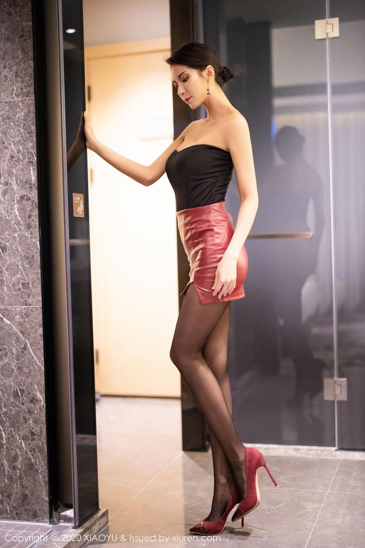 [XiaoYu] Vol.265 Carry 7P, Black Silk, Chen Liang Ling, Tall, Underwear, XiaoYu