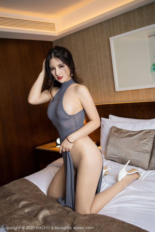 [XiaoYu] Vol.268 Shi Shi Kiki 15P, Black Silk, Chen Shi Shi, Underwear, XiaoYu