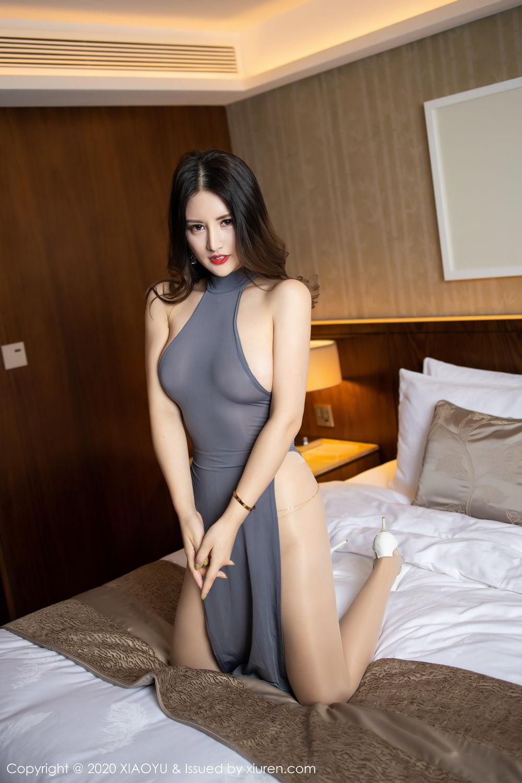 [XiaoYu] Vol.268 Shi Shi Kiki 16P, Black Silk, Chen Shi Shi, Underwear, XiaoYu