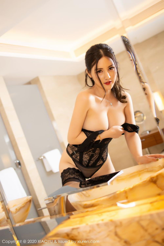 [XiaoYu] Vol.268 Shi Shi Kiki 2P, Black Silk, Chen Shi Shi, Underwear, XiaoYu