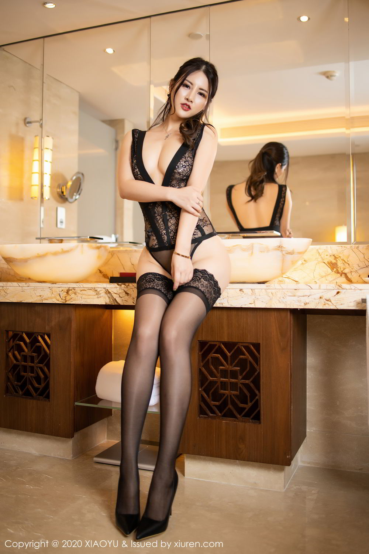 [XiaoYu] Vol.268 Shi Shi Kiki 38P, Black Silk, Chen Shi Shi, Underwear, XiaoYu