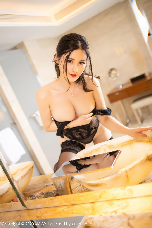 [XiaoYu] Vol.268 Shi Shi Kiki 56P, Black Silk, Chen Shi Shi, Underwear, XiaoYu