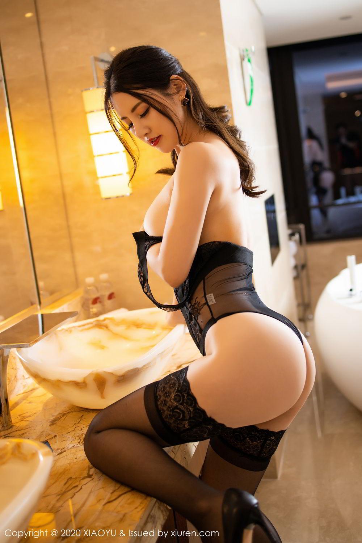[XiaoYu] Vol.268 Shi Shi Kiki 59P, Black Silk, Chen Shi Shi, Underwear, XiaoYu