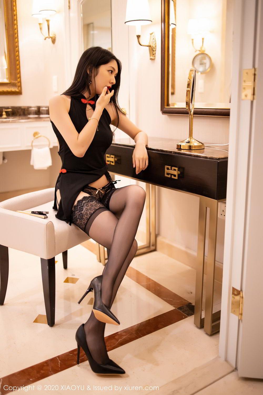 [XiaoYu] Vol.271 Di Yi 73P, Black Silk, Di Yi, Underwear, XiaoYu