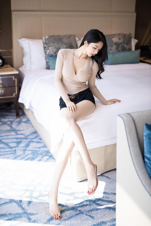 [XiaoYu] Vol.271 Di Yi 7P, Black Silk, Di Yi, Underwear, XiaoYu