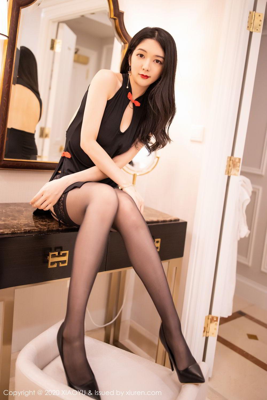 [XiaoYu] Vol.271 Di Yi 84P, Black Silk, Di Yi, Underwear, XiaoYu