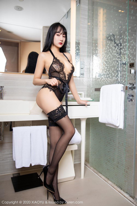 [XiaoYu] Vol.274 He Jia Ying 48P, Black Silk, He Jia Ying, Underwear, XiaoYu