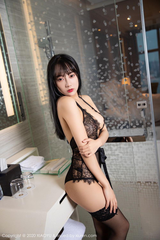 [XiaoYu] Vol.274 He Jia Ying 51P, Black Silk, He Jia Ying, Underwear, XiaoYu