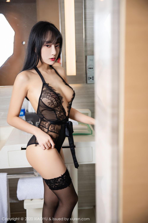 [XiaoYu] Vol.274 He Jia Ying 52P, Black Silk, He Jia Ying, Underwear, XiaoYu