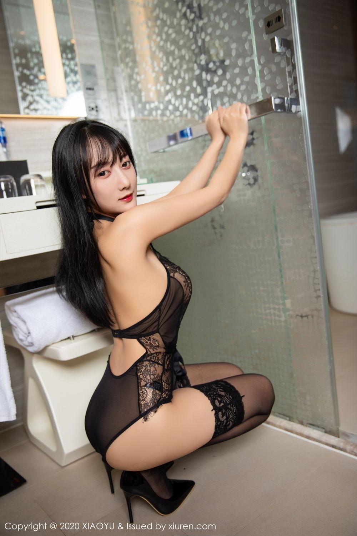 [XiaoYu] Vol.274 He Jia Ying 54P, Black Silk, He Jia Ying, Underwear, XiaoYu