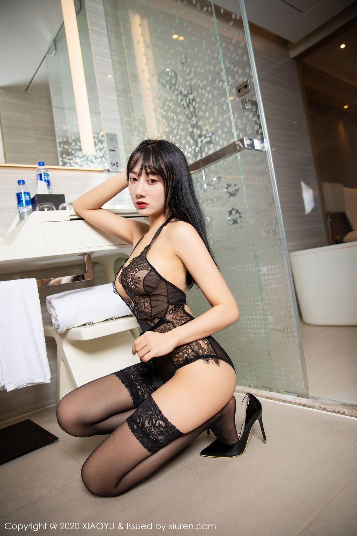 [XiaoYu] Vol.274 He Jia Ying 58P, Black Silk, He Jia Ying, Underwear, XiaoYu
