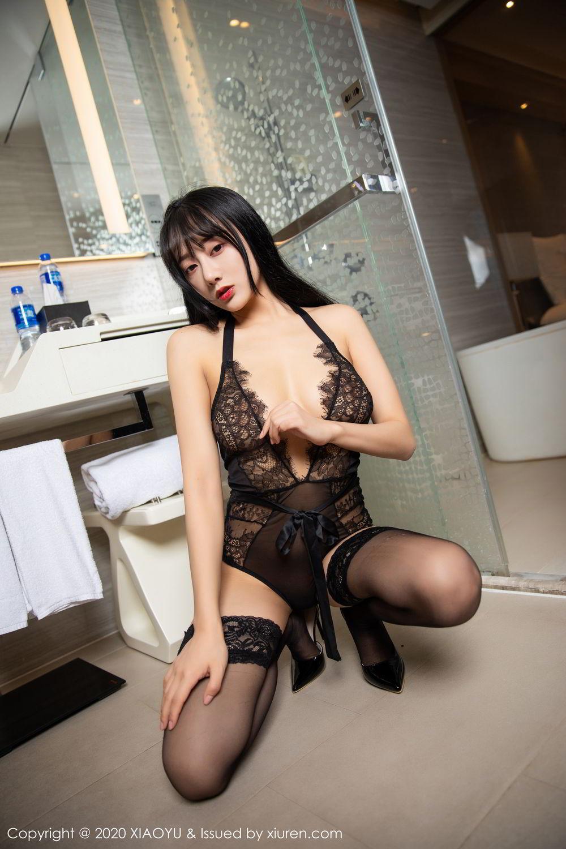 [XiaoYu] Vol.274 He Jia Ying 59P, Black Silk, He Jia Ying, Underwear, XiaoYu