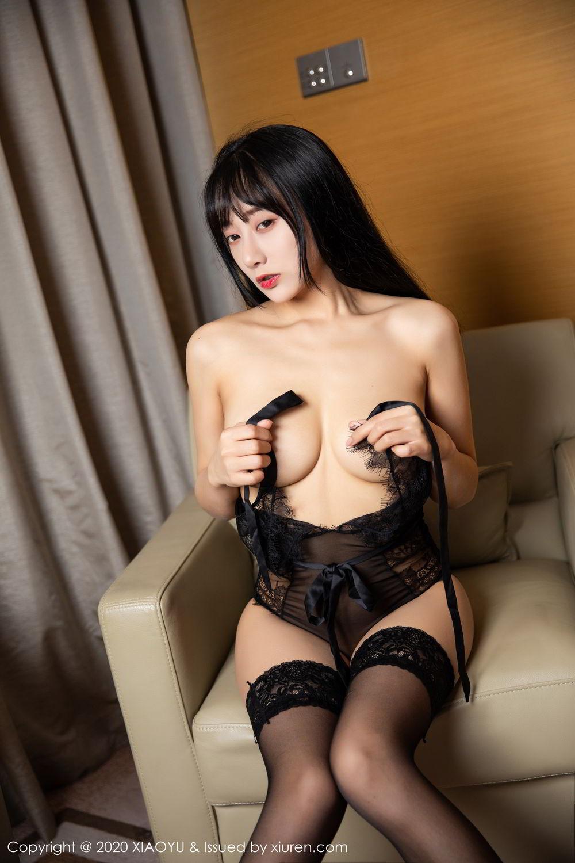[XiaoYu] Vol.274 He Jia Ying 5P, Black Silk, He Jia Ying, Underwear, XiaoYu