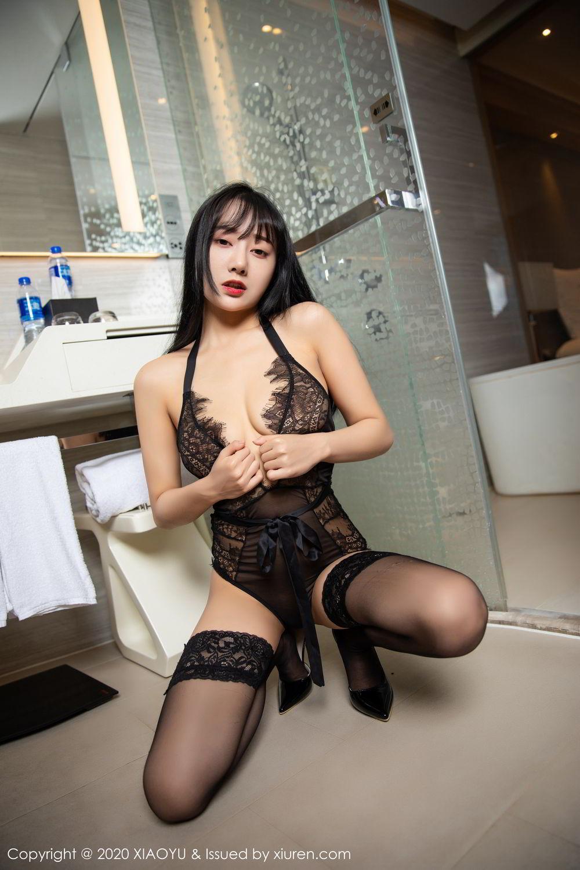 [XiaoYu] Vol.274 He Jia Ying 60P, Black Silk, He Jia Ying, Underwear, XiaoYu
