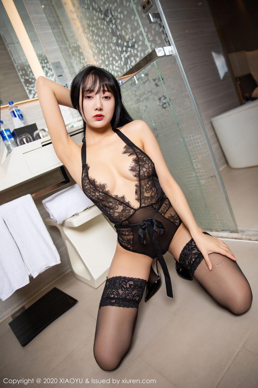 [XiaoYu] Vol.274 He Jia Ying 64P, Black Silk, He Jia Ying, Underwear, XiaoYu