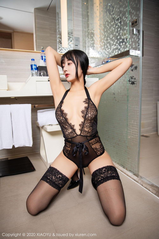 [XiaoYu] Vol.274 He Jia Ying 65P, Black Silk, He Jia Ying, Underwear, XiaoYu