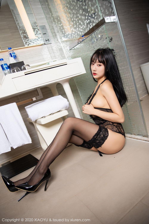 [XiaoYu] Vol.274 He Jia Ying 67P, Black Silk, He Jia Ying, Underwear, XiaoYu