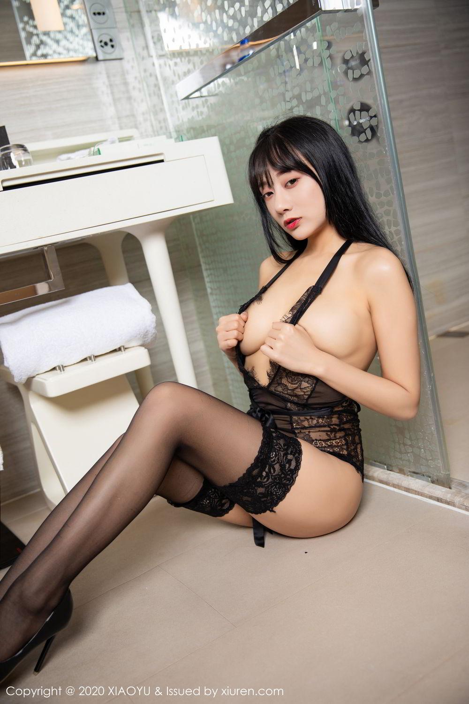 [XiaoYu] Vol.274 He Jia Ying 70P, Black Silk, He Jia Ying, Underwear, XiaoYu