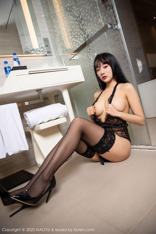 [XiaoYu] Vol.274 He Jia Ying 72P, Black Silk, He Jia Ying, Underwear, XiaoYu